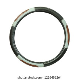 Steering wheel cover isolated on white background