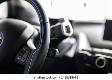 Steering Wheel of Modern Automobile