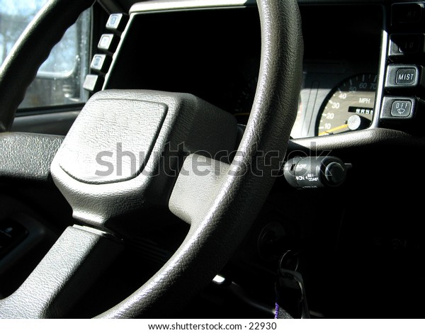 steering wheel in vehicle