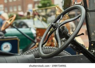 Steeringwheel of an old car