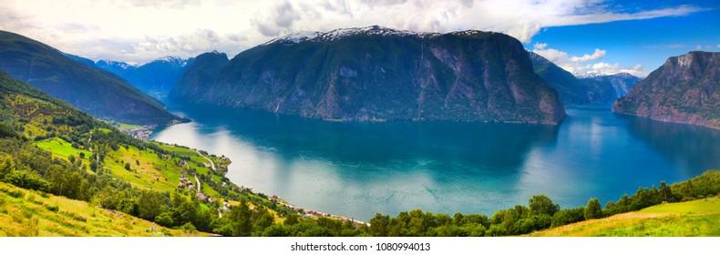 Stegastein viewpoint in Aurland Norway