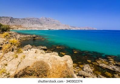Stegna sea bay on Rhodes