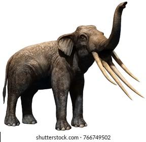 Stegotetrabelodon 3D illustration