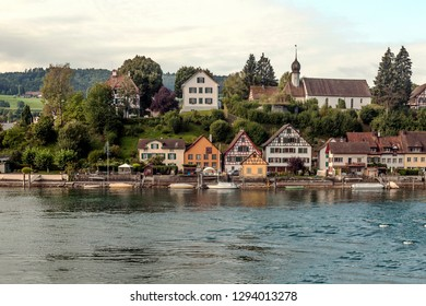 Stein am Rhein is a commune and historical Swiss city of the canton of Schaffhausen,  on the extreme western shore of Lake Constance.