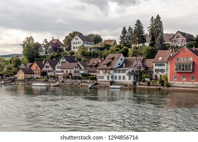 Stein am Rhein, Schaffhausen, Switzerland-September 2015. Stein am Rhein is a commune and historical Swiss city of the canton of Schaffhausen, located in the eastern exclave of the canton,