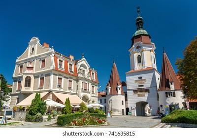 Steiner Tor, a 15th century gate in the city of Krems an der Donau, the Wachau valley of Austria