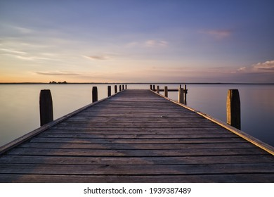 Steinhuder Meer during colorful sunset - Shutterstock ID 1939387489