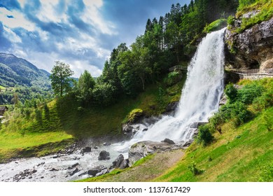 Steinsdalsfossen - a gorgeous waterfall in Norway