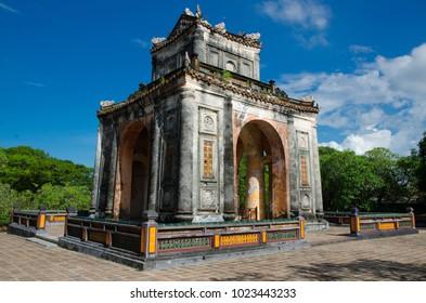 Stele Pavilion with memorial to Emperor Tu Duc, Hue, Vietnam