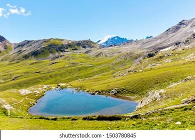 Stelvio National Park (IT) - Alpine lake near the Pass