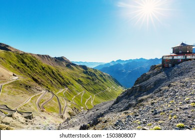 Stelvio National Park - Trafoi Valley - View of the road in the Province of Trento