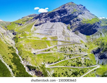 Stelvio National Park - Valle del Braulio - Aerial view