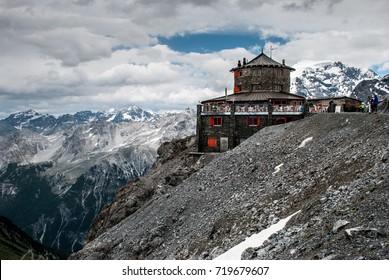 Stelvio Pass Hut, Passo dello Stelvio - Shutterstock ID 719679607