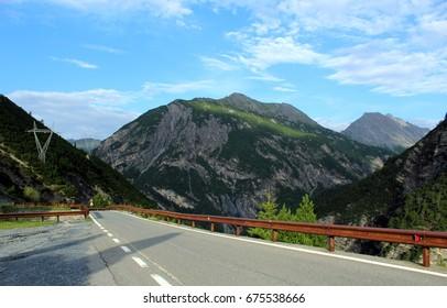 Stelvio pass road in summer (Bormio side)