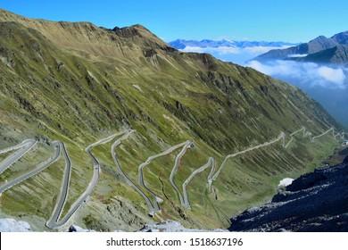 Stelvio road - up to 2760m in Italian Alps