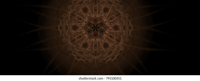 Stem background art abstract in illustration space geometry. Background consists of fractal multicolor texture and is suitable for use in projects on imagination, creativity and design.