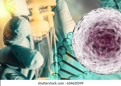Stem Cells Therapy Concept stem cell transplant through perfusion