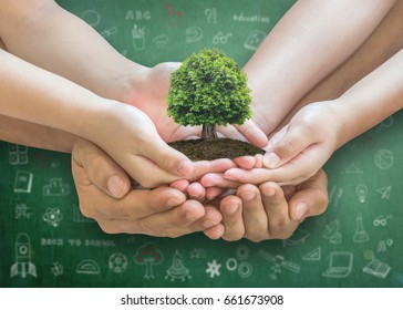 STEM education concept with father parent or teacher cultivating in children's creative learning inspiration in innovative science knowledge