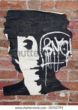 stencil art of bob