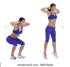 Step by step instruction for Jump squats