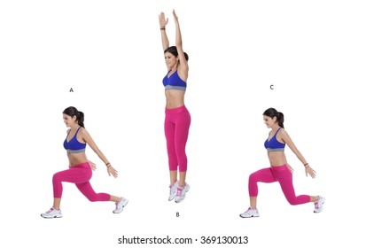 Step by step instructions: Split Lunge Jump