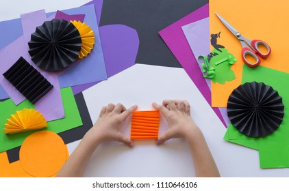 Master of origami symbol images stock photos vectors shutterstock step by step master class create a decoration for a party from halloween pumpkins mightylinksfo