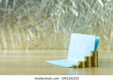 Passbook bank images stock photos vectors shutterstock step of coin stack with passbook or account book on wooden working table savings and colourmoves