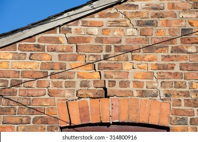 step cracking above a window caused by subsidence