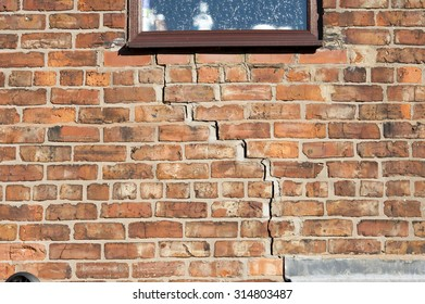 step cracking to a brick wall caused by subsidence