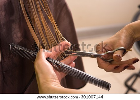 Step Haircut Process Stock Photo Edit Now 301007144 Shutterstock