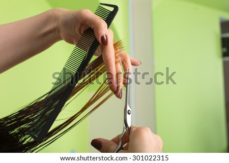 Step Haircut Process Stock Photo Edit Now 301022315 Shutterstock