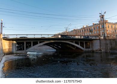 Stepan Razin's bridge, Sankt Peterburg, Russia