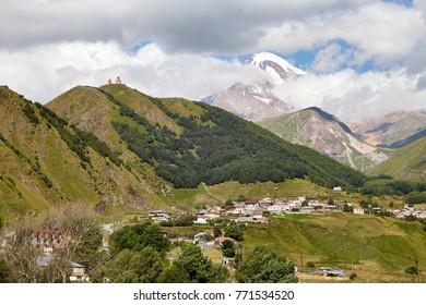 Stepanzminda at the caucasus, Georgia