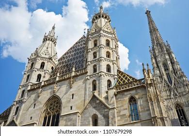 Stephansdom (St. Stephen's Cathedral) in Vienna (Wien), Austria.