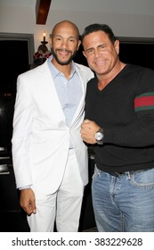 Stephen Bishop and Keith Middlebrook  at the inaugural Stephen Bishop celebrity golf invitational benefiting R.A.K.E. on Feb. 15, 2016 at Calabasas Country Club in Calabasas, CA.