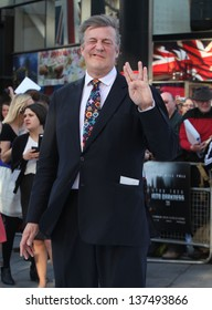 Stephen Fry arriving for the UK premiere of 'Star Trek Into Darkness' at The Empire Cinema, London. 02/05/2013