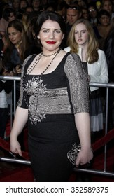 """Stephenie Meyer at the Los Angeles Premiere of """"The Twilight Saga: New Moon"""" held at the Mann Village Theater in Westwood, California, United States on November 16, 2009."""