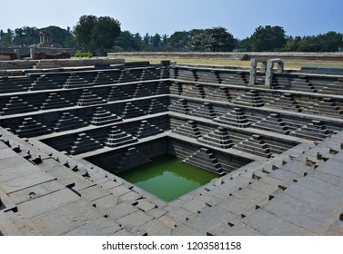 Stepped well in Hampi - A UNESCO Word Heritage Site in India.