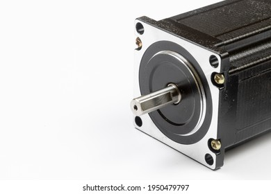 Stepper Motor for CNC machining with copy space.