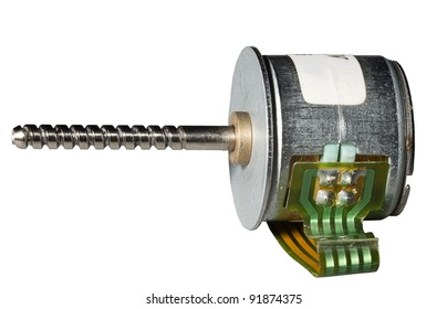 Stepper motor on a white background. Isolated.