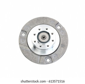 Stepper motor separately. Hard disk drive on a white background