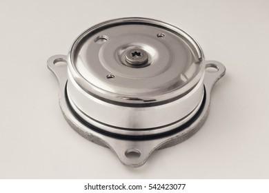Stepping motor. Motor hard disk close-up