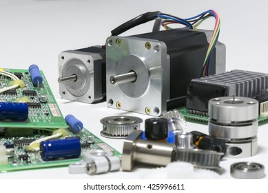 stepping motor and peripheral components