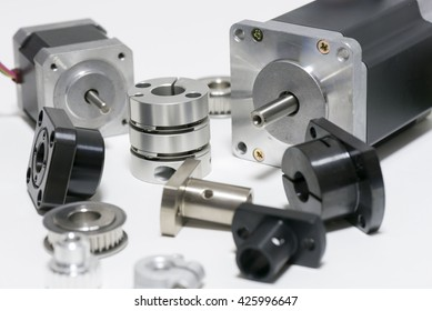 stepping motors and mechanical parts