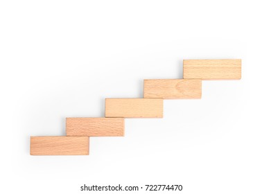 stepping up a toy staircase