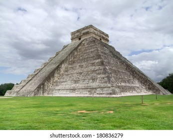 step-pyramid named El Castillo in Chichen the Itza archaeological site in Yucatan, Mexico