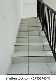 Steps in a building in Jakarta, March 6, 2021