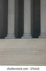 steps and  columns (supreme court). washington, dc