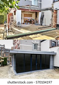 Steps from construction of a New modern extension