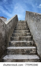 Steps of Dubrovnik fortress, Croatia